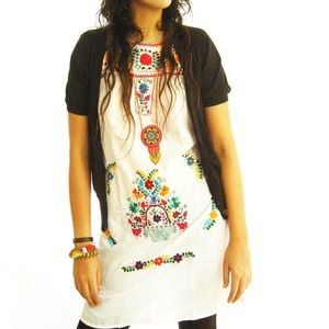 Mexican Dress Bohemian Embroidered Dress